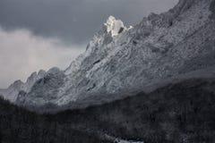 Snowed mountains Stock Image