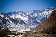 Snowed mountains in Mendoza Royalty Free Stock Photo
