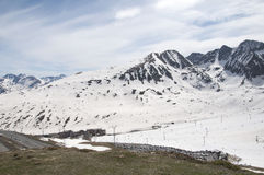 Snowed mountains in Pas de la Casa, Andorra Stock Images