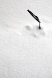 Snowed out windscreen wiper Royalty Free Stock Photos