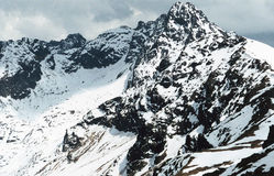 Snowed Peak Royalty Free Stock Photos