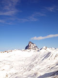 Snowed Peak in Astun Royalty Free Stock Photography
