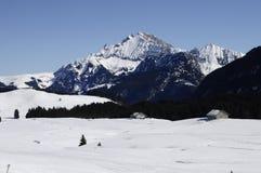 The snowed Plateau des Glieres Stock Image