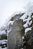 Snowed Rock Royalty Free Stock Image