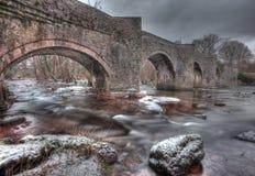 Snowey Brücke in den Breacon Leuchtfeuern Lizenzfreie Stockfotografie