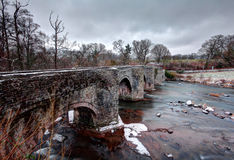 Snowey Brücke in den Breacon Leuchtfeuern Stockfoto