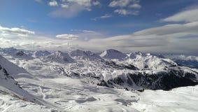 Snowey góry Fotografia Stock