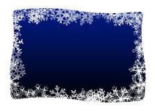 Snowfake Frame Stock Photo