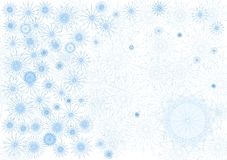 Snowfall. As background greeting card Royalty Free Stock Photos