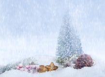 snowfall Fotografia Stock