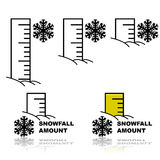 Snowfall amount Royalty Free Stock Image