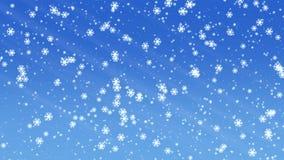 Snowfall animation stock video