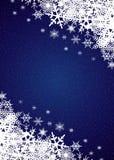 Snowfall Background. Winter night snowfall border background Stock Photo