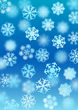 Snowfall background Stock Photography