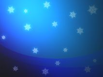 Snowfall background Stock Image