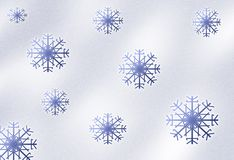 Snowfall background Stock Images