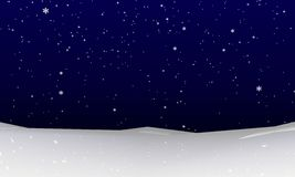 Snowfall background. Abstract winter snowfall. Rendered 3d-background in dark-blue color Stock Images