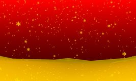 Snowfall background Stock Image