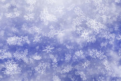 Snowfall background of  cloudy cold weather Stock Images