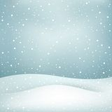 Snowfall background Stock Photo