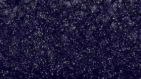 Snowfall backgrounds on blue evening sky. Snowfall backgrounds on a blue evening sky stock footage