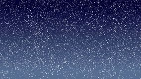 Snowfall backgrounds on blue evening sky. Snowfall backgrounds on a blue evening sky stock video footage