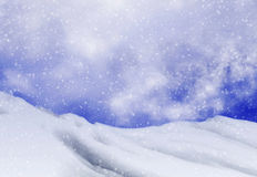 Snowfall backgrounds of evening time Stock Image