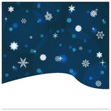 Snowfall backround Royalty Free Stock Photo