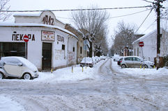 Snowfall in Belgrade Stock Photos