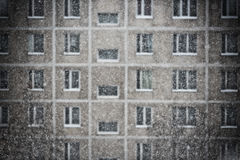 Snowfall in a big city Stock Photo