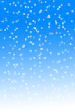 Snowfall on blue and white background Royalty Free Stock Photography