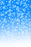Snowfall on blue and white gradient background Stock Photography