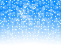 Snowfall on blue and white gradient background Royalty Free Stock Images