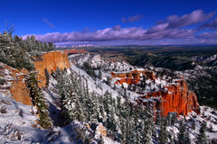 Snowfall in Bryce Canyon Royalty Free Stock Image