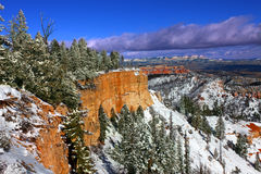 Snowfall in Bryce Canyon Royalty Free Stock Photo
