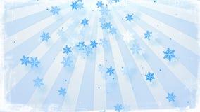 Snowfall in circular rays Royalty Free Stock Photo