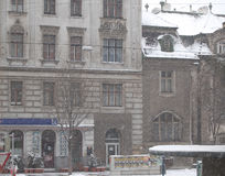 Snowfall  in  the city. Snowfall in the city of Vienna, Austria Royalty Free Stock Image