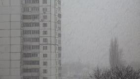 Snowfall in city Royalty Free Stock Photos