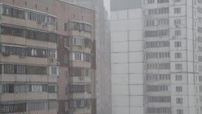 Snowfall in city Royalty Free Stock Photo