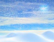 Snowfall in december Royalty Free Stock Image