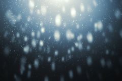 Snowfall with Depth and Motion Blur Royalty Free Stock Images