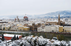 Snowfall at Florence Stock Image