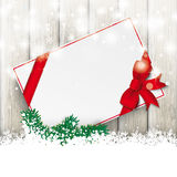 Snowfall Glitter Sale Board Ash Wooden Background Stock Photo