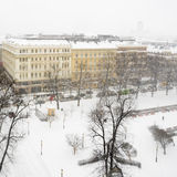 Snowfall in Helsinki Royalty Free Stock Images