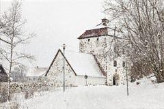 Snowfall at Hovdala Royalty Free Stock Images