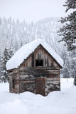 Snowfall In Rural Area Stock Images