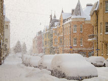 Free Snowfall In The City Royalty Free Stock Image - 12763546
