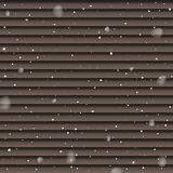 Snowfall isolated on brown panels background. Vector falling snow template. royalty free stock photo