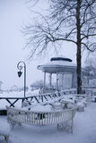 Snowfall in Istanbul Stock Photography