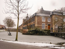 Snowfall in Kasteel Hoensbroek Stock Images